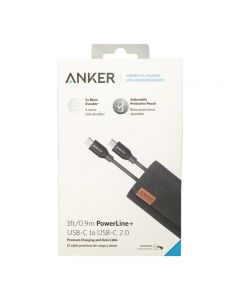 Anker Powerline+ USB-C to USB-C 2.0 (3ft/0.9m) High Durability for USB Type-C Devices
