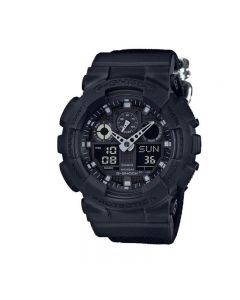 Casio G-Shock GA-100BBN-1A Black Resin Band Men Sports Watch