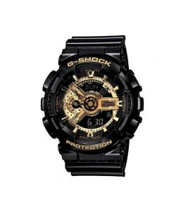 Casio G-shock GA-110GB-1A Black Gold Resin Band Men Sports Watch
