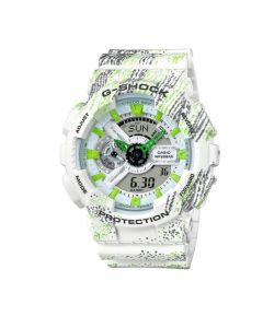 Casio G-Shock GA-110TX-7A White Resin Band Men Sports Watch