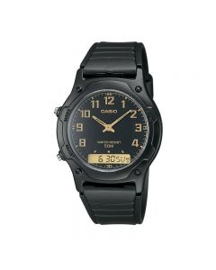 Casio General AW-49H-1B Black Resin Band Men Watch