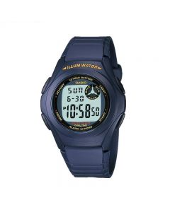 Casio General F-200W-2A Youth Digital Blue Resin Band Men Watch