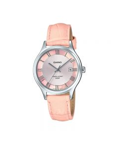 Casio General LTP-E142L-4AVDF Pink Leather Band Women Watch