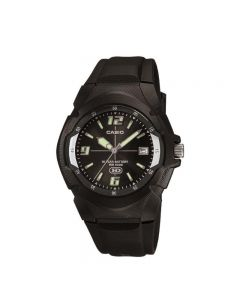 Casio General MW-600F-1A Youth Analog Black Resin Band Men Watch