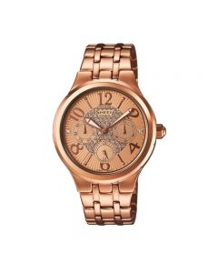 Casio SHE-3808PG-9A Rose Gold with Swarovski Crystals Women