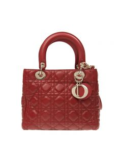 Christian Dior Lambskin Red