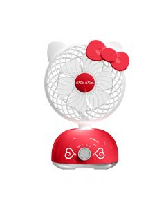 Original Hello Kitty Swinging Rechargeable Portable Fan-Red