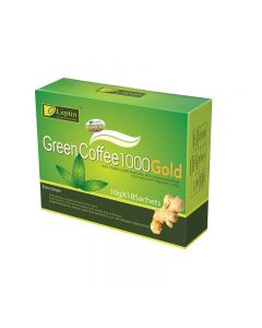 Leptin Green Coffee 1000 Gold Weight Loss Coffee with Ginger 18 Sachets/box