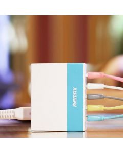 Remax 5 USB Charger (UK/HK) Blue