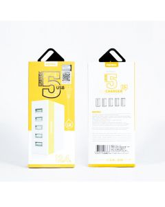 Remax 5 USB Charger (UK/HK) Yellow