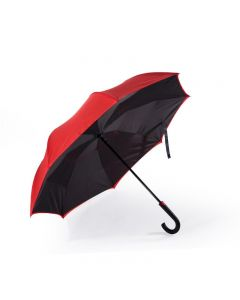 Remax Double-Deck Outward Closed Umbrella Red