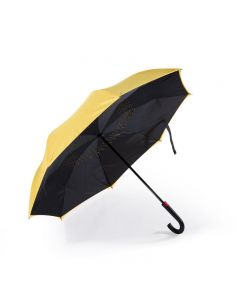 Remax Double-Deck Outward Closed Umbrella Yellow