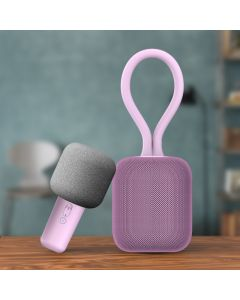 WizikGo Wireless Professional Dual Portable Speaker with Mic Pink
